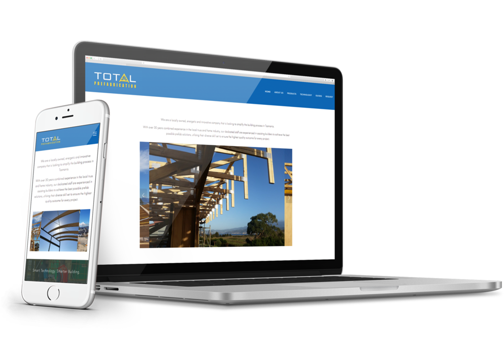 Total Prefab - Start-up website