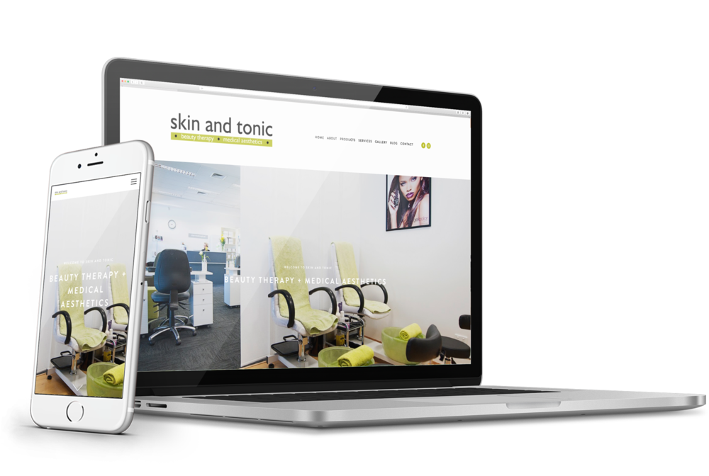 Skin & Tonic - Small business website