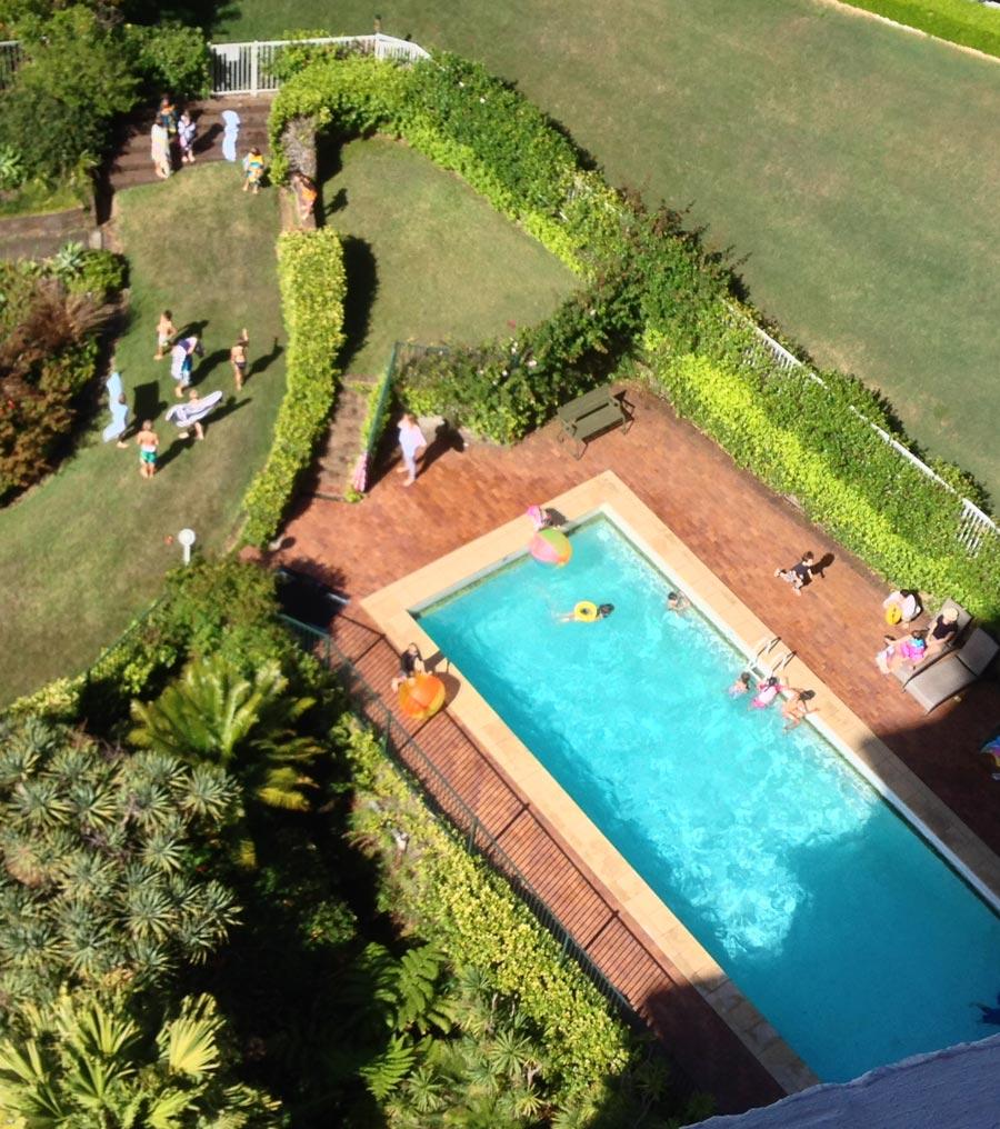 The pool at Glenhurst Gardens