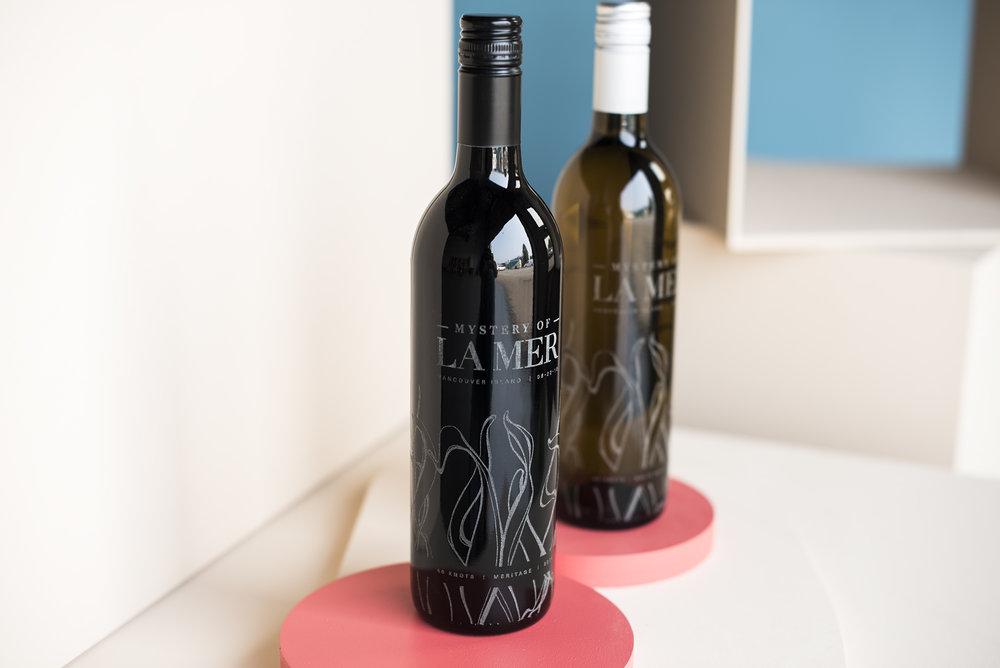 Laser etched wine bottles in Vancouver Klo labjpg