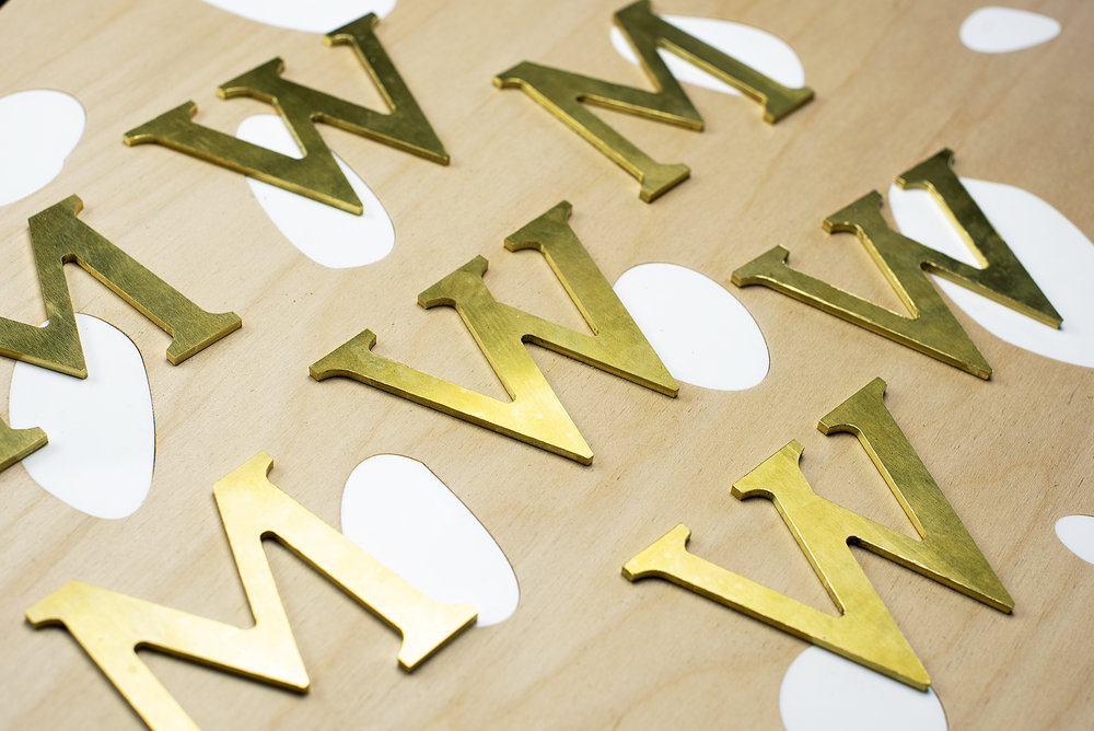 Brass letter CNC Fabrication Vancouver- Klo Lab.jpg