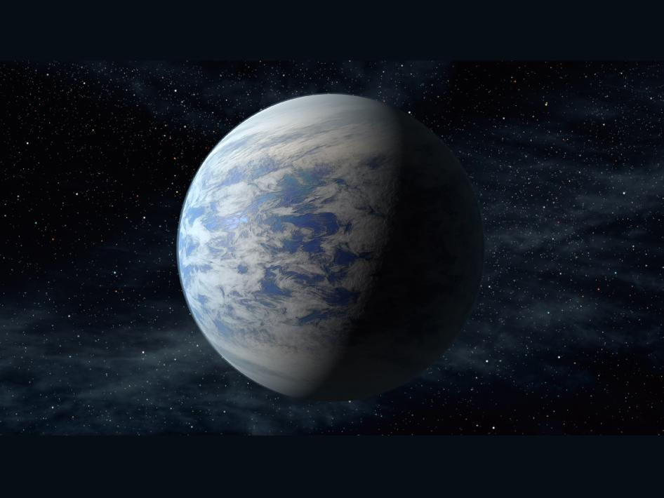 Artist's impression of Kepler 69c. Image via NASA Ames/JPL-Caltech.