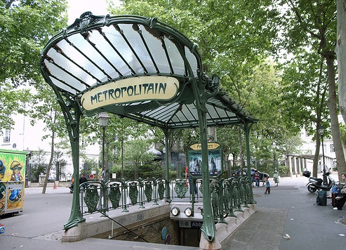 The metro stop at Abbesses