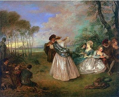 Jean-Antoine Watteau, le Contredanse (1716-1719)