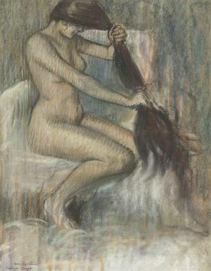 Pierre Georges Jeannot (1848-1934),  Femme se poignant  (1890-1892)