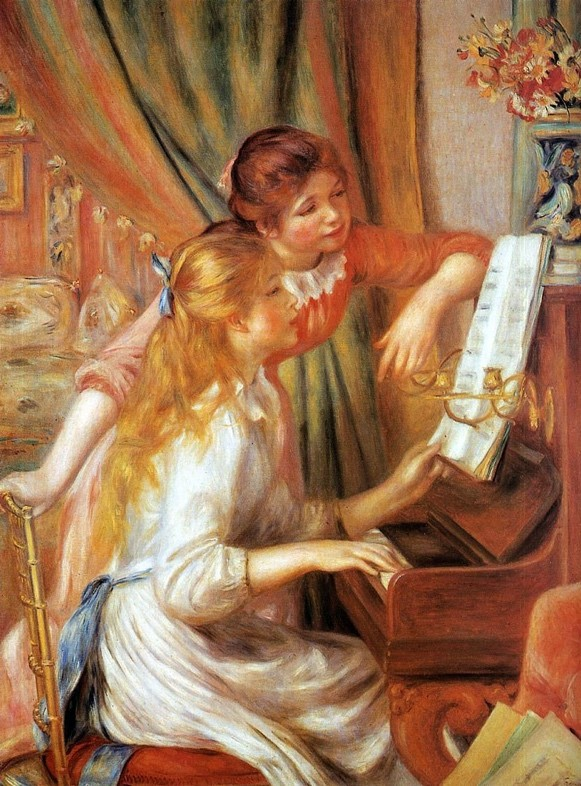 Pierre-Auguste Renoir (1841-1919),  Young Girls at the Piano , ca. 1882