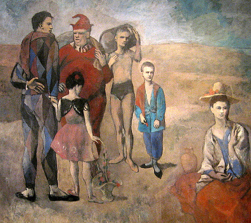 Picasso , Famille de saltimbanques    Source  ( CC BY-NC 2.0 )