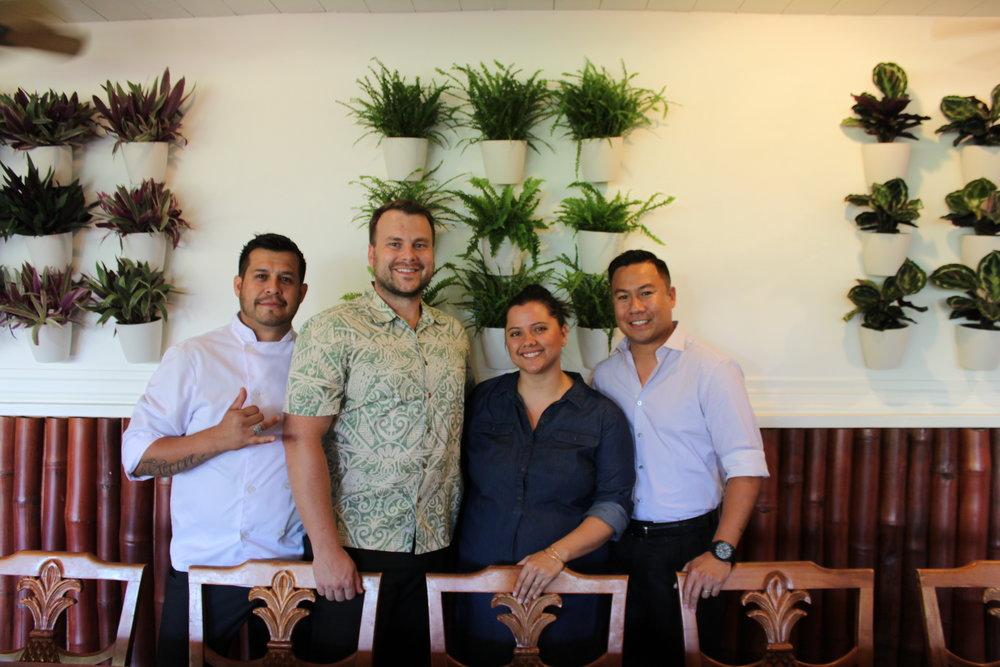 Executive Chef Ruben Macias, Darren Byler, Claire Pastula Byler and Napa Recopuerto.