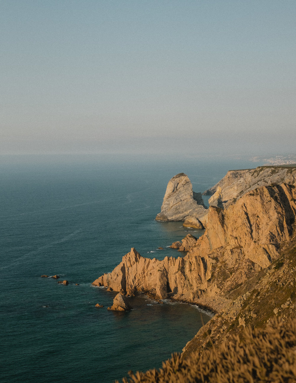 Cabo da Roca, the easternmost tip of continental Europe.