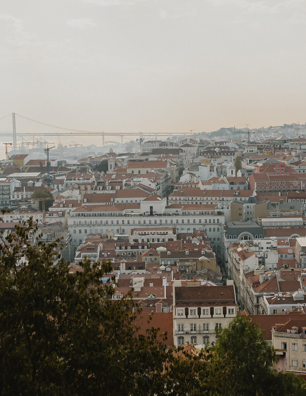 Panoramic view of Lisbon, atop Castel de Jorge.