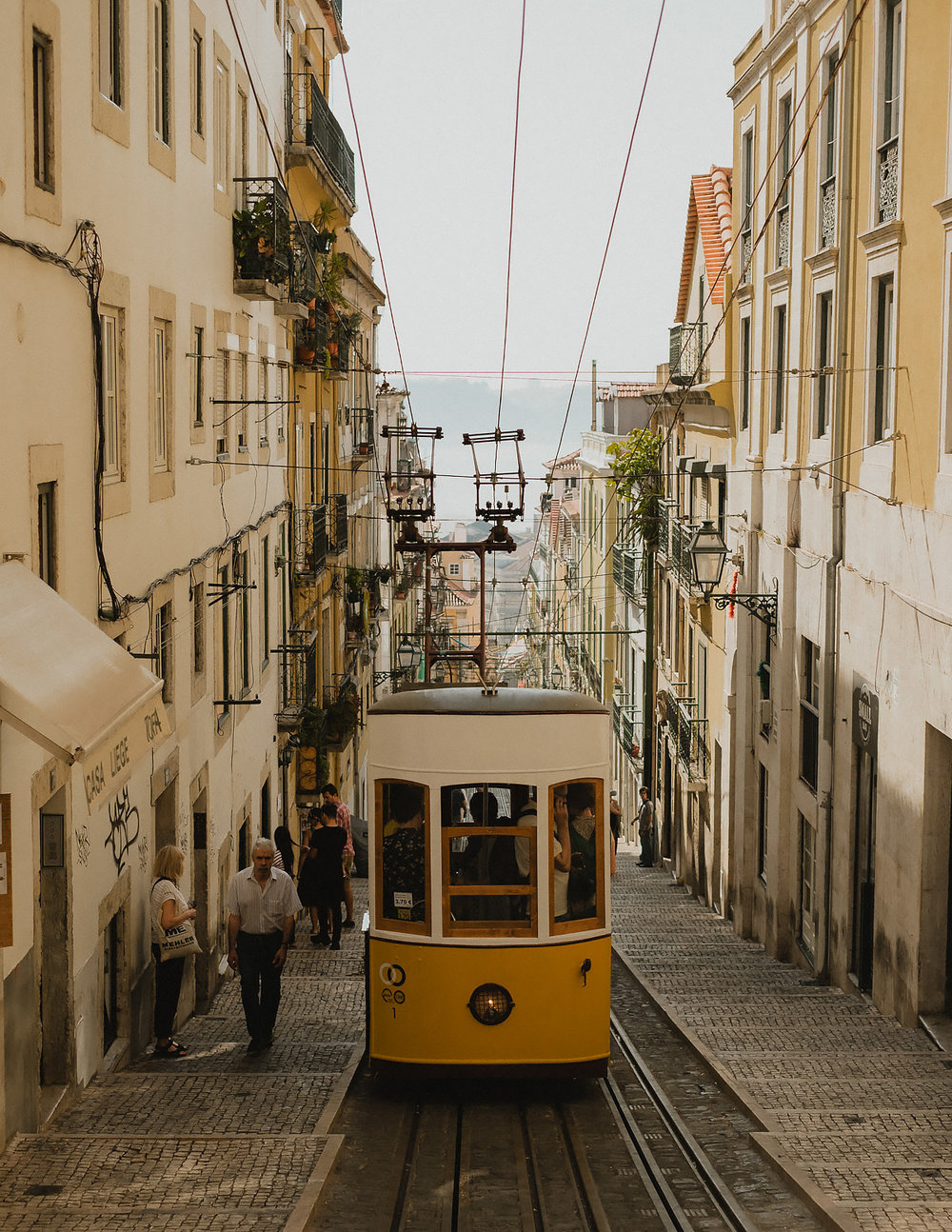 The infamous and picturesque Tram 28 that runs throughout all of Lisbon —a t one point it sort of felt like it was following us around the city!