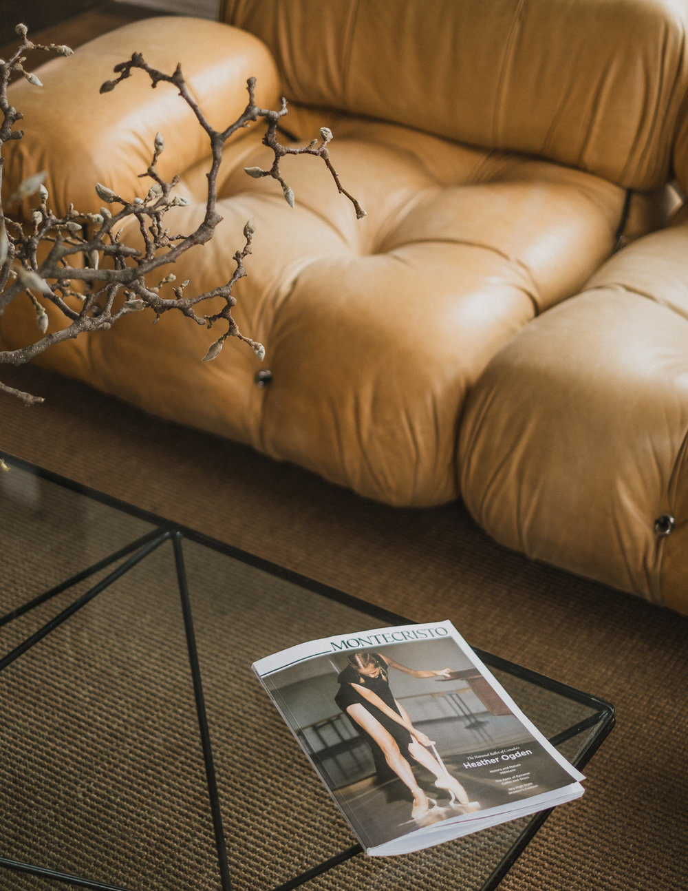 vintage-yellow-leather-couch