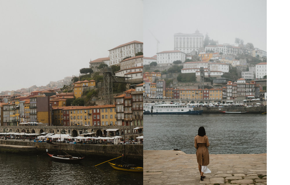 View of the Ribeira square from across the Douro.