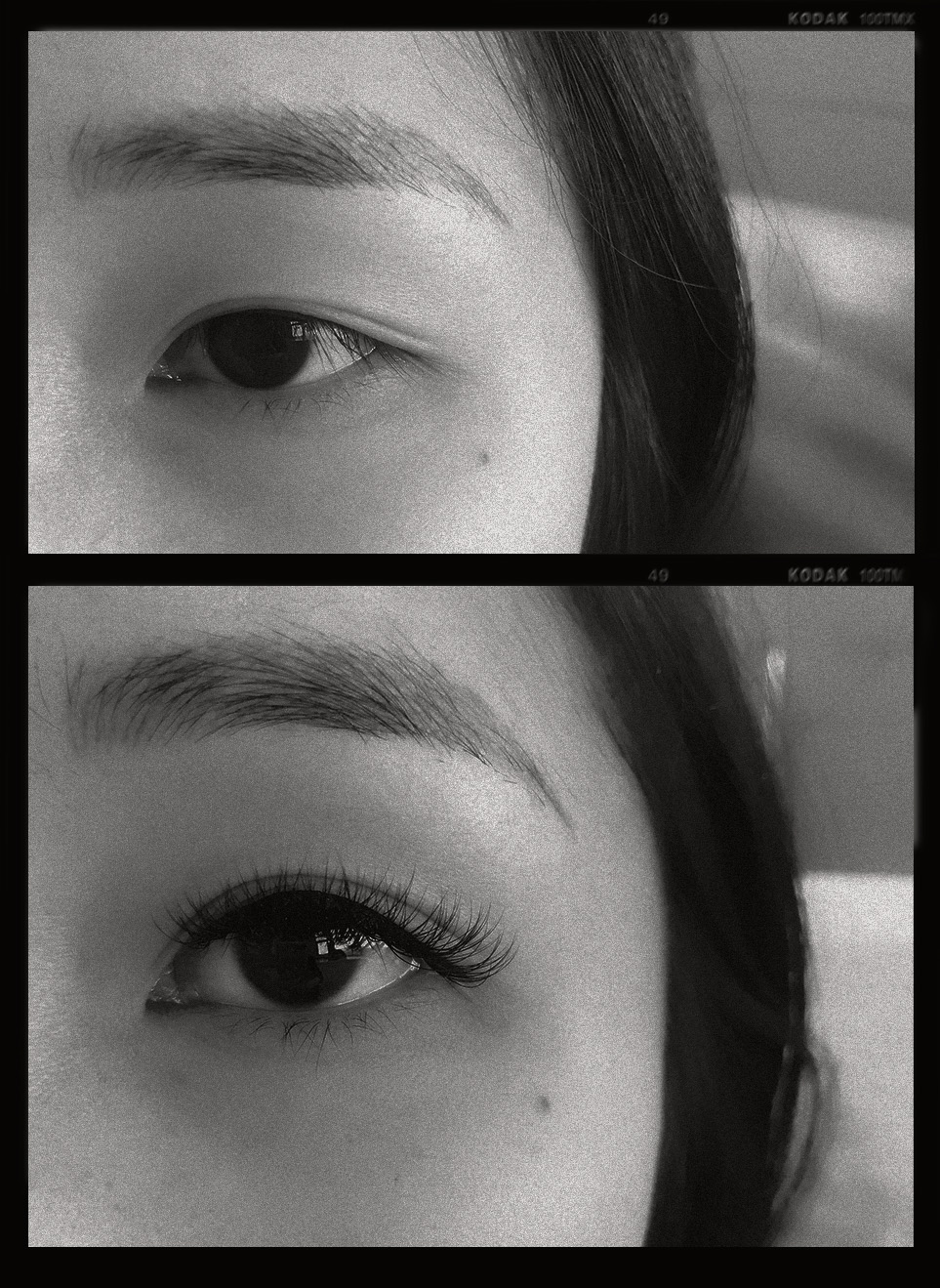 Before & after (D curl, 12mm length, 0.10mm width).    More on fanLashtic.Brow's Instagram page:  here  and  here .