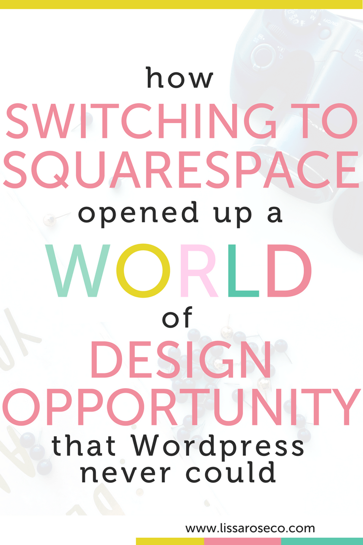 Lissa Rose Co Wordpress vs Squarespace Web Design