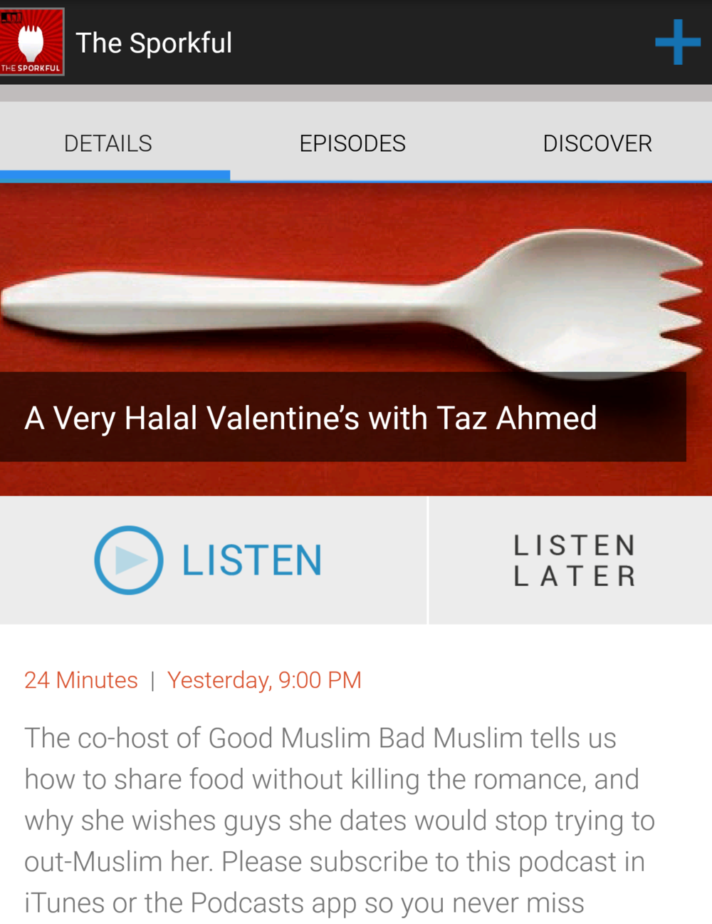 A Very Halal Valentine's with Taz Ahmed| The Sporkful Podcast   (Feb. 2017)