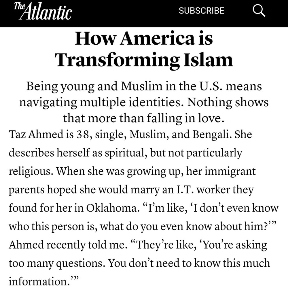 How America is Transforming Islam | The Atlantic   (Jan 2018)
