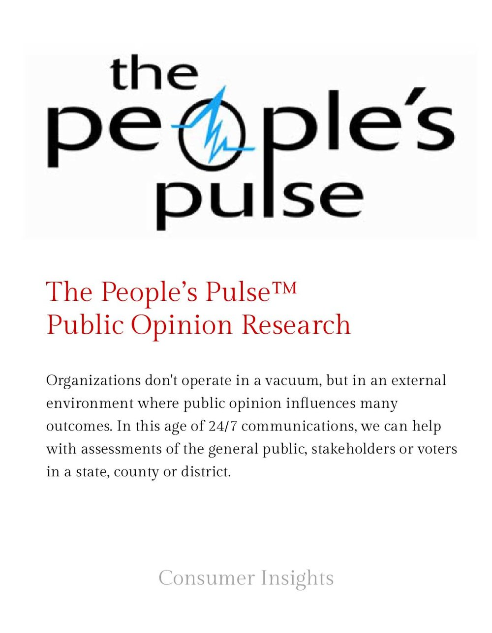 The People's Pulse -Public Opinion Research