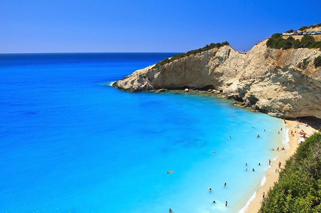 Katsiki beach, Greece. Have any of our followers been here? Is it as magical as it looks in pictures? Where is the best place to eat? #mmmm #greekfood #katsiki #beach #greekislands #greece #travelblog