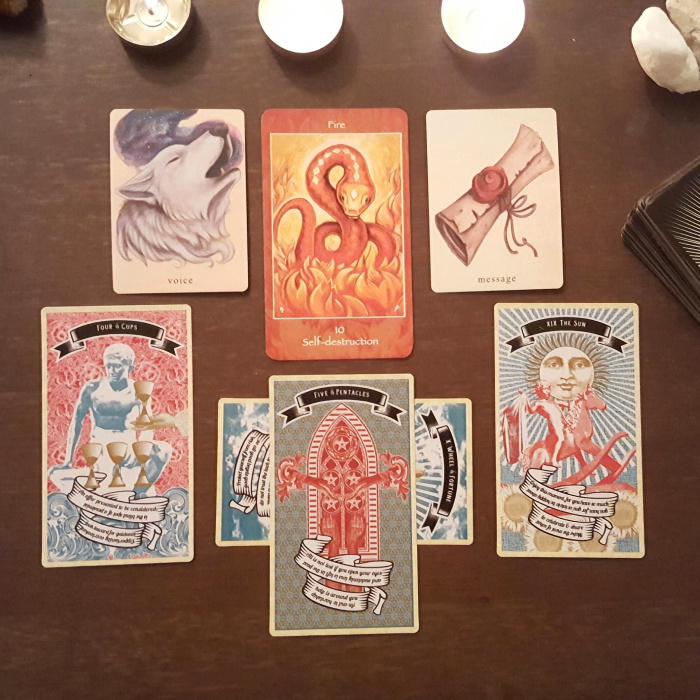 a series of clarifications with The Earthbound Oracle and Madam Clara Sees All Tarot