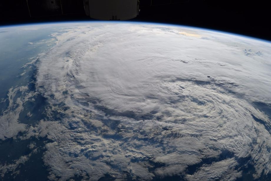 NASA, reminding us that ultimately there's very little to control in the face of a hurricane