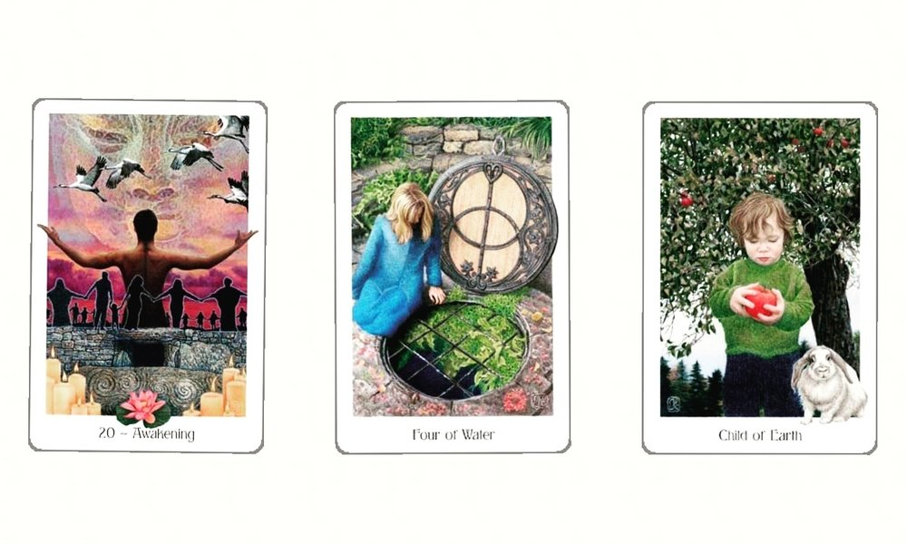today's Soul Practices reading with the Gain Tarot digital app