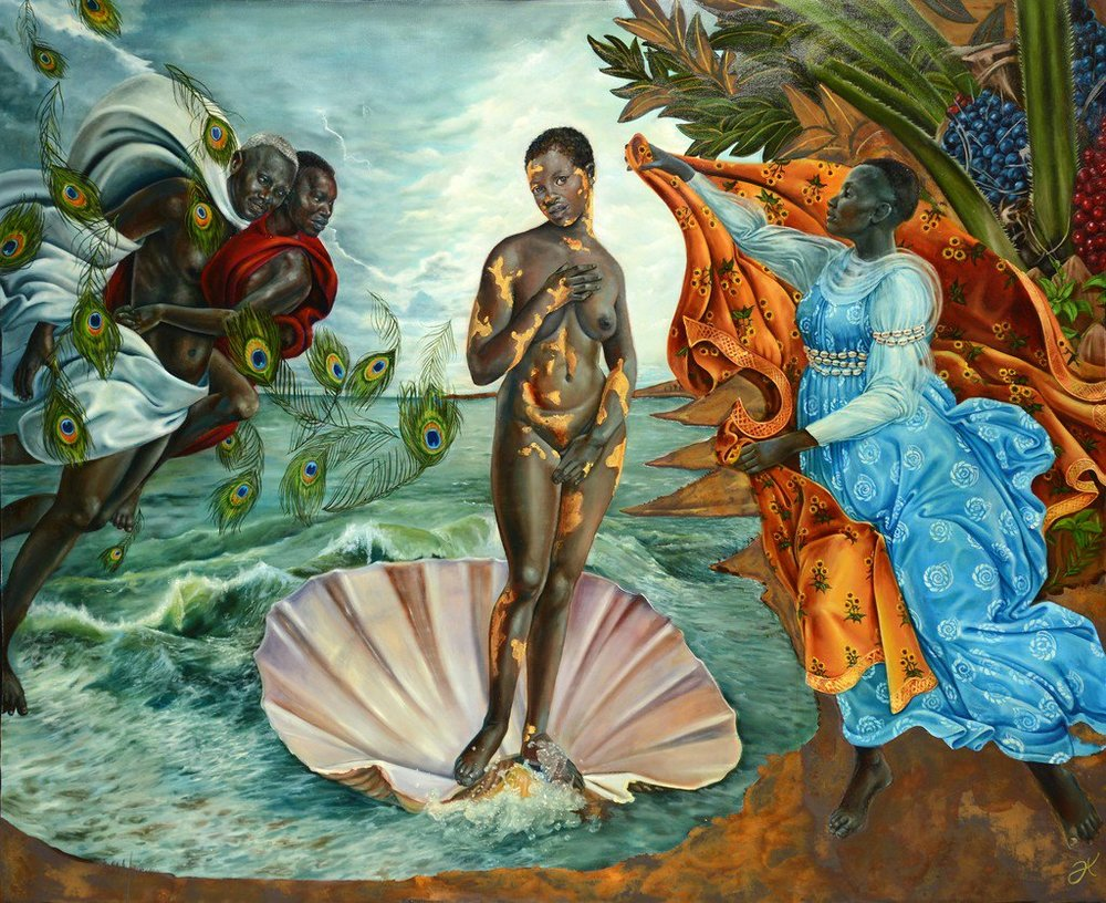 Harmonia Rosales, Birth of Oshun, 2017, from a series of works 'Black Imaginary to Counter Hegemony (B.I.T.C.H.)'