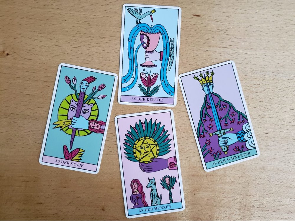 Aces from the Kitty Kahane Tarot