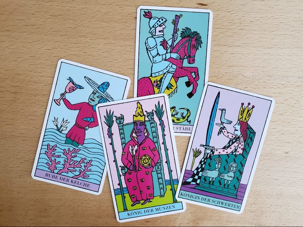 Court cards from the Kitty Kahane Tarot