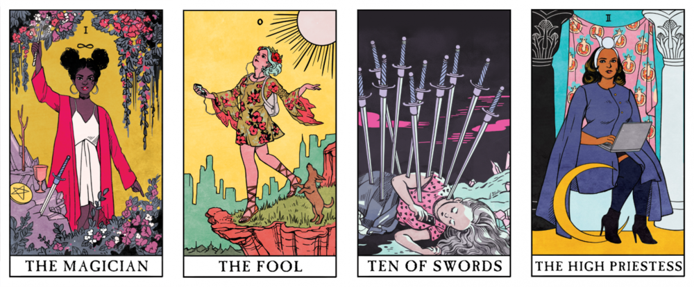 previews from the Modern Witch Tarot