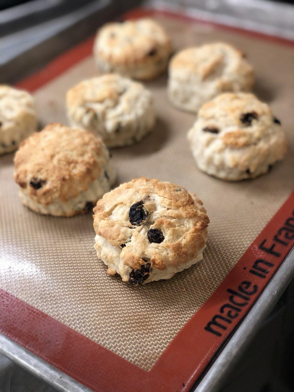 Sour Cream Raisin Biscuits