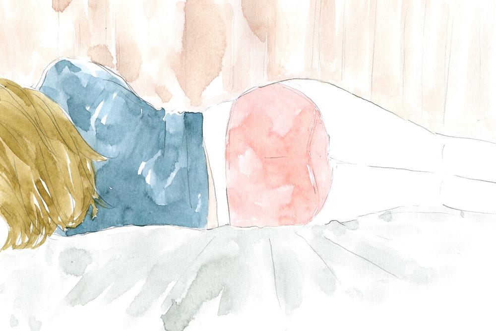 "Client Work for PEACH JOHN Web magazine ""momo Life"" Serialization「Lingerie in Cinema」 Column by Madoka Yamazaki Illustration and typography by Yuriko Oyama    From a film ""Lost in Translation ""(2003) 映画「ロストイントランスレーション」(2003)より。    Client Work for PEACH JOHN Web magazine ""momo Life"" Serialization「Lingerie in Cinema」 山崎まどかさんコラム イラストレーション:おおやまゆりこ 「The Royal Tenenbaums (2001)」イラストレーション"