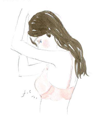 Client Work for PEACH JOHN WEB Beauty illustration  WEB   「あなたのぴったり!が分かる ベストフィットなブラ選び」 下着の正しい測り方や、正しいフィッティング講座までのHOW TOイラストをたくさん描いています。