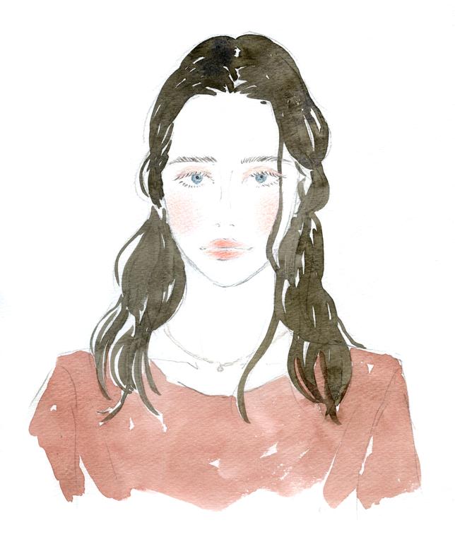 """コーセー「コスメデコルテ」 フェイスパウダーのカラー診断のイラストを制作させていただきました。全部で8通りの女の子を描きました。  Commercial work for KOSÉ """"COSME DECORTÉ"""" face powder diagram diagnosis.   Web"""