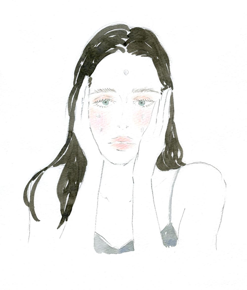 """コスメブランド「 草花木果 」2018年冬号 会報誌のイラストを制作させていただきました。  Commercial Illustration for cosmetic brand """" Sokamocka """" Winter, 2018."""