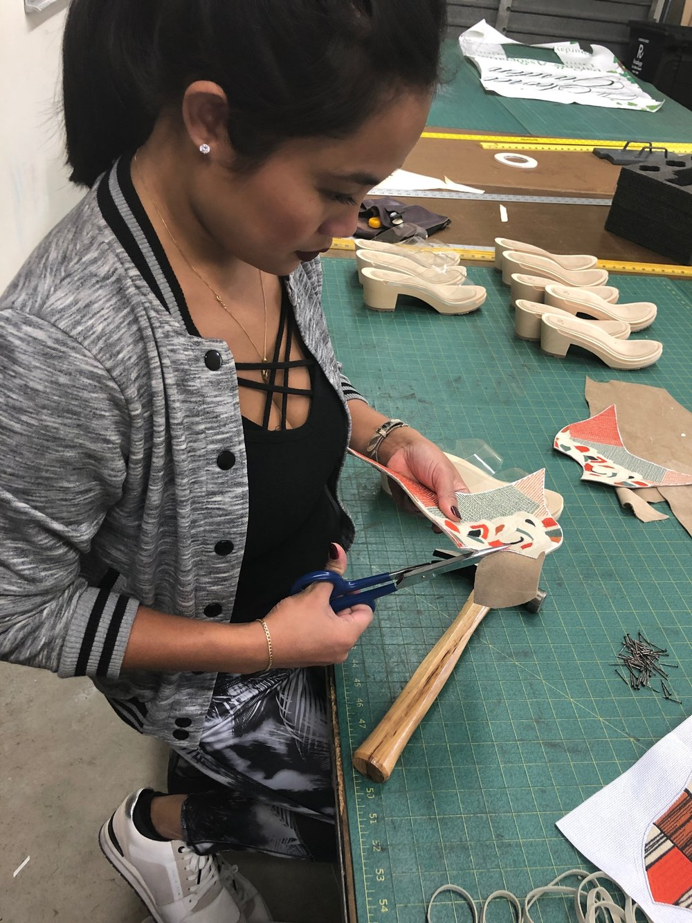 """I LOVE WORKING WITH LEATHER - """"Leather is one of my favorite materials to use in the production process.""""""""The leather touches give your product a beautiful look and feel, lasting quality and a polished edge."""""""