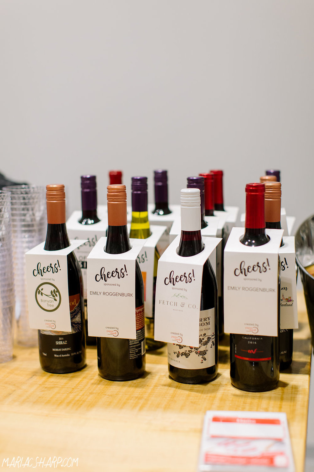 Thank you to every business who sponsored a bottle of wine! Photo by Maria Sharp Photography