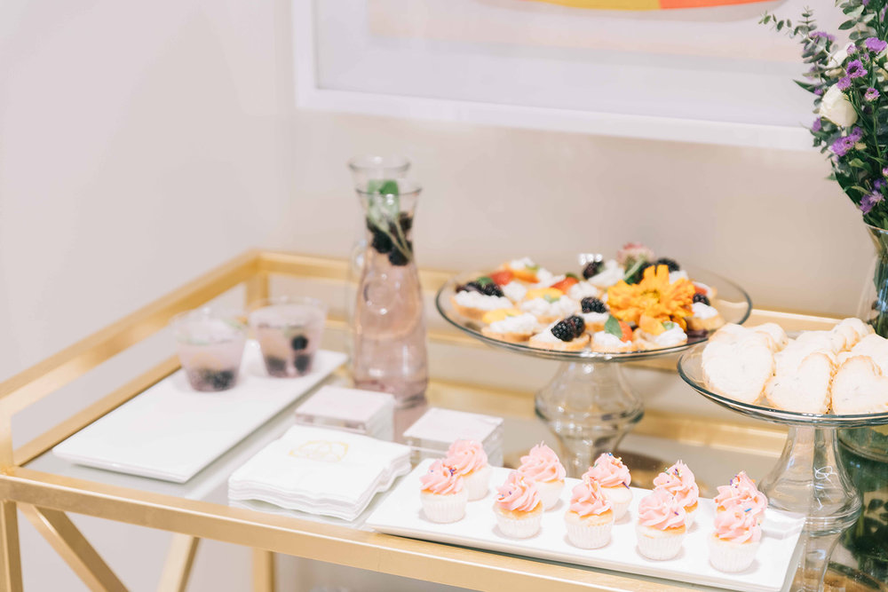 Snacks provided by Kendra Scott.  Photo by Anita Louise Photography