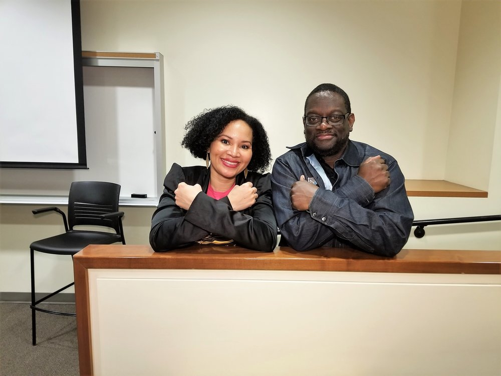 Ms. Dicus and Professor Alkebulan #California4ever