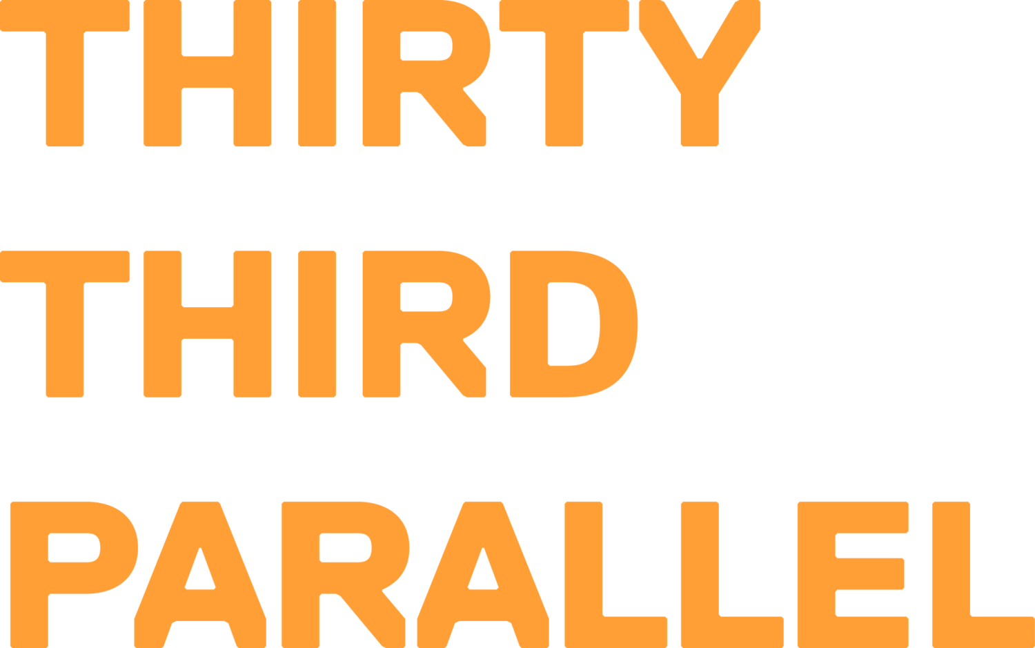 Thirty Third Parallel