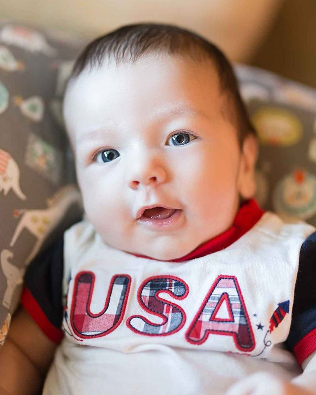 Happy 4th of July from my nephew Camden! 🎆🇺🇸