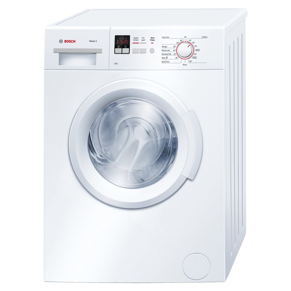 Bosch 1200 Spin 6kg Washing Machine  Price:  289.99   The Bosch WAB24161GB freestanding washing machine has a 6 kg family size capacity and is a great value for money model.   Buy now