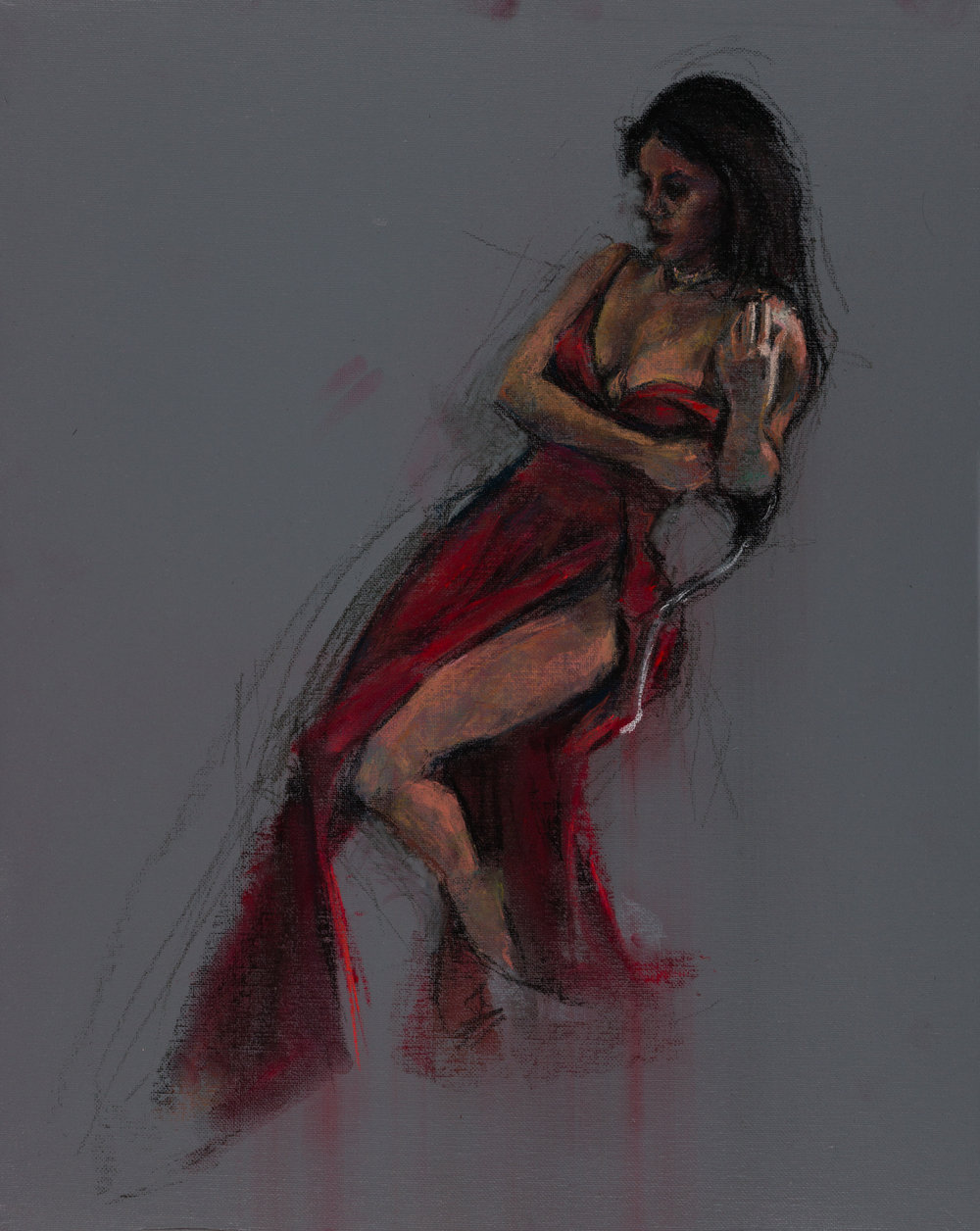 Crista, Oil Minstrel in Red