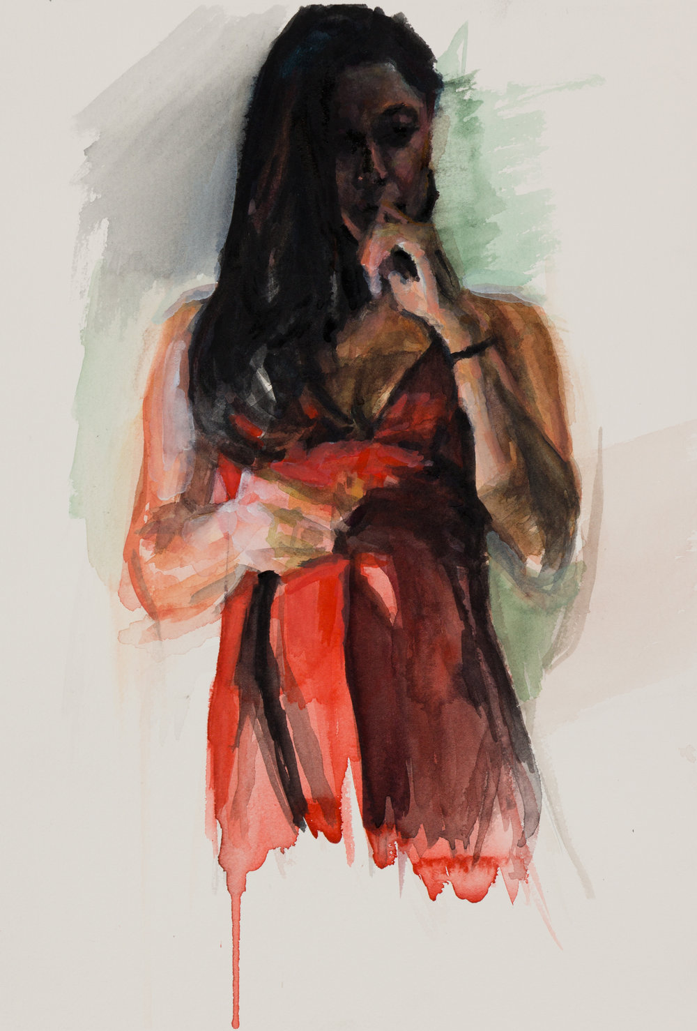 Crista, Oil Minstrel in Red No. 2