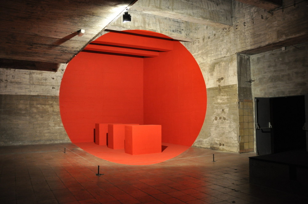 red dot by georges rousse perspective art