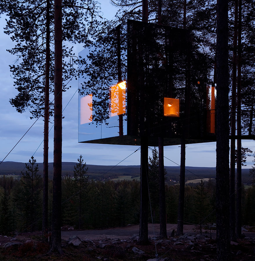 swedish tree house design by tham & videgård arkitekter