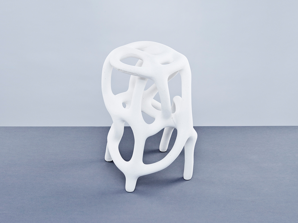 stool made with nylon powder and sand