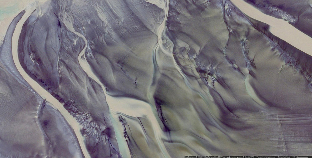 aerial view of sand dunes