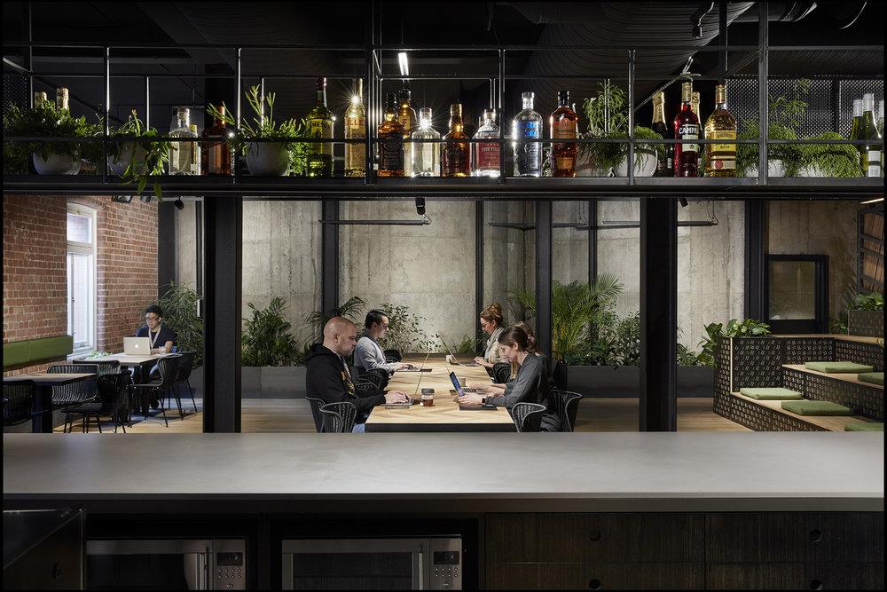 kitchen at slack office by Breathe Architecture Slack