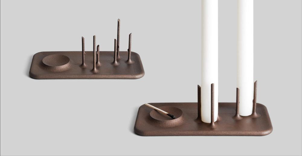 Trois Grande Candleholder by  Brad Ascalon
